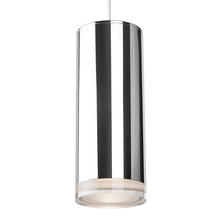 Kuzco Lighting Inc 401432CH-LED - LED Pendant Cylinder Shaped with Clear Crystal Disc