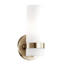 Kuzco Lighting Inc WS9809-VB - Milano - Wall Sconce White Opal Glass Cylinder