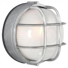 Galaxy Lighting 305012SA - Cast Aluminum Marine Light with Guard - Satin Aluminum w/ Frosted Glass