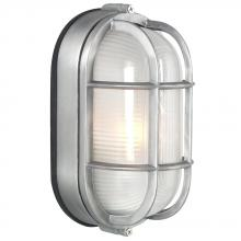 Galaxy Lighting 305014SA - Cast Aluminum Marine Light with Guard - Satin Aluminum w/ Frosted Glass