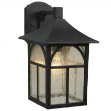 Galaxy Lighting 311370BK - Outdoor Lantern - Black With Clear Seeded Glass
