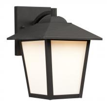 Galaxy Lighting 312051BK/WH - Outdoor Lantern - Black with White Glass