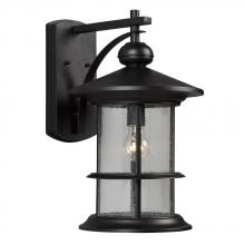 Galaxy Lighting 319750BK - Outdoor Wall Mount Lantern - in Black finish with Clear Seeded Glass