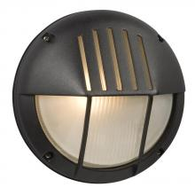 Galaxy Lighting 320350BK - Marine Light - Black with Frosted Glass