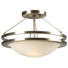 Galaxy Lighting 601322BN - Semi-Flush Mount - Brushed Nickel w/ Frosted White Glass