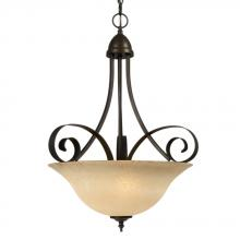 Galaxy Lighting 811442ORB - Pendant - Oiled Rubbed Bronze w/ Amber Glass