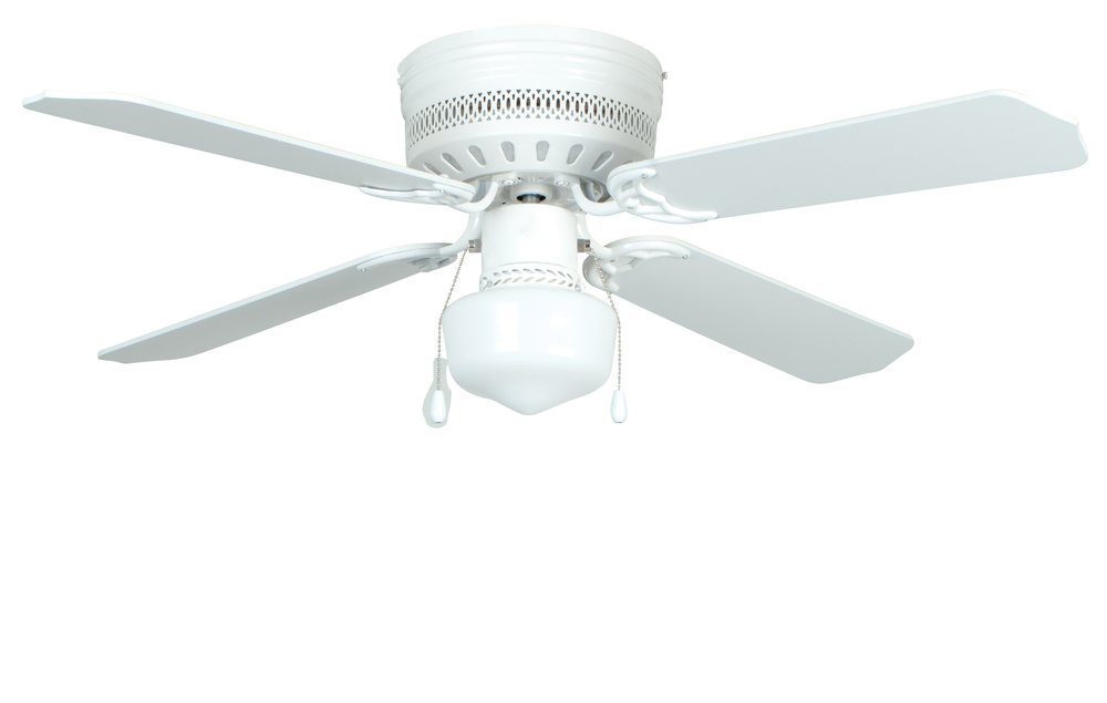 "Celeste 42"" Ceiling Fan with Blades and Light in White"