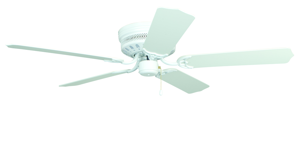 "Village Lighting in Bellingham, Washington, United States,  4XTYZ, Close-up 52"" Ceiling Fan with Blades in White, Close-Up"
