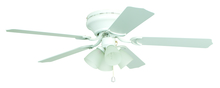 "Ellington Fan BRC52WW5C - Brilliante with 4-light Kit 52"" Ceiling Fan with Blades and Light in White"