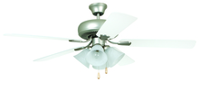 "Ellington Fan PD52BP5C4 - Piedmont 52"" Ceiling Fan with Blades and Light in Brushed Pewter"