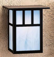 "Arroyo Craftsman HS-10DTCS-P - 10"" huntington sconce with roof and double t-bar overlay"