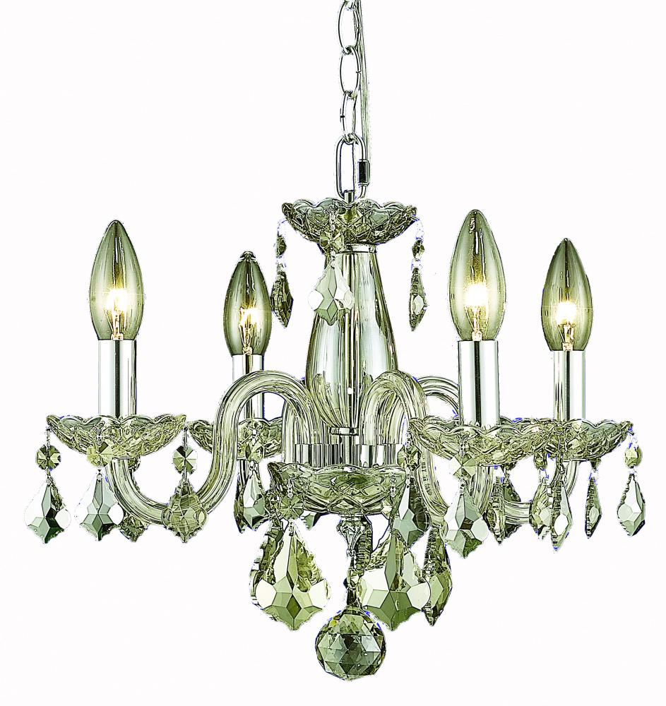 7804 Rococo Collection Hanging Fixture D15in H12in Lt:4 Golden Shadow Finish (Royal Cut Golden Shado