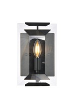 Elegant 1212W6FB - 1212 Monaco Collection Wall Sconce D:6in H:10in E:7in Lt:1 Flat Black (Matte) Finish