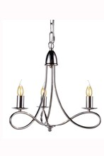 "Elegant 1452D18PN - 1452 Lyndon Collection Pendant lamp D:18"" H:16"" Lt:3 Polished Nickel Finish"