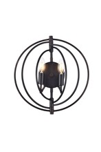 Elegant 1453W13DB - 1453 Vienna Collection Wall Sconce D:13in H:13in E:6in Lt:2 Dark Bronze Finish