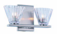 Elegant 1520W12BN - Oslo Collection 2-Light Burnished Nickel Finish Wall Sconce, Vanity