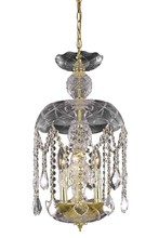 Elegant 7803D11G/RC - 7803 Rococo Collection Pendant D:11in H:20.5in Lt:3 Gold Finish (Royal Cut Crystals)