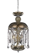 Elegant 7803D11GT/RC - 7803 Rococo Collection Pendant D:11in H:20.5in Lt:3 Golden Teak Finish (Royal Cut Crystals)