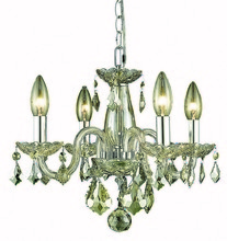 Elegant 7804D15GS-GS/RC - 7804 Rococo Collection Pendant D:15in H:12in Lt:4 Golden Shadow Finish (Royal Cut Crystals)