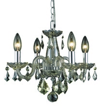 Elegant 7804D15GT-GT/RC - 7804 Rococo Collection Pendant D:15in H:12in Lt:4 Golden Teak Finish (Royal Cut Crystals)