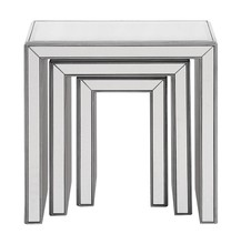 Elegant MF6-1013S - 3 Pcs Nested Tables 23 in. x 15 in. x 23 in. in Silver paint