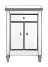 Elegant MF6-1020S - 1 Drawer 2 Door Cabinet 24 in. x 12 in. x 36 in. in Silver paint