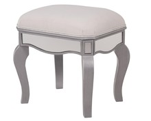 Elegant MF6-1044S - Dressing stool 18 in. x 14 in. x 18 in. in Clear Mirror