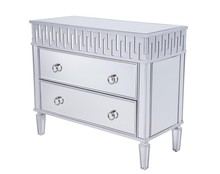 Elegant MF6-1045S - 2 Drawers Cabinet 40 in. x 18 in. x 34 in. in Silver leaf