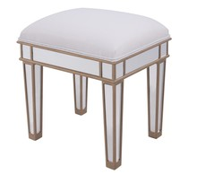Elegant MF6-1107G - Dressing stool 18 in. x 14 in. x 18 in. in Gold paint