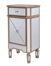 Elegant MF6-1115G - 1 Drawer 1 Door Cabinet 18 in. x 12 in. x 32 in. in Gold paint