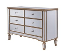 Elegant MF6-1117G - 6 Drawer Dresser 48 in. x 18 in. x 32 in. in Gold paint