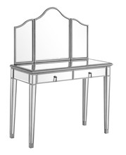 Elegant MF6-2001S - Vanity Table 42 in. x 18 in. x 31 in. and Mirror 39 in. x 1 in. x 42 in.