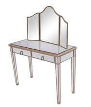 Elegant MF6-2003G - Vanity Table 42 in. x 18 in. x 31 in. and Mirror 39 in. x 24 in.
