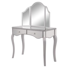 Elegant MF6-2013S - Vanity Table 42 in. x 18 in. x 31 in. and Mirror 37 in. x 24 in.