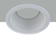 "Elegant REM30WH - 6"" Line Voltage R30 White Baffle Trim"