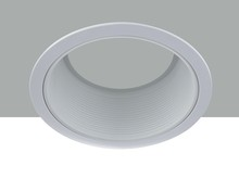 "Elegant REM40WH - 6"" Line Voltage R40 White Baffle Trim"