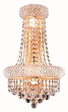 Elegant V1800W12SG/RC - 1800 Primo Collection Wall Sconce D:12in H:17in E:7in Lt:4 Gold Finish (Royal Cut Crystals)