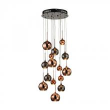 Dimond 1142-010 - Nexion 15 Light Chandelier In Black Chrome - Small