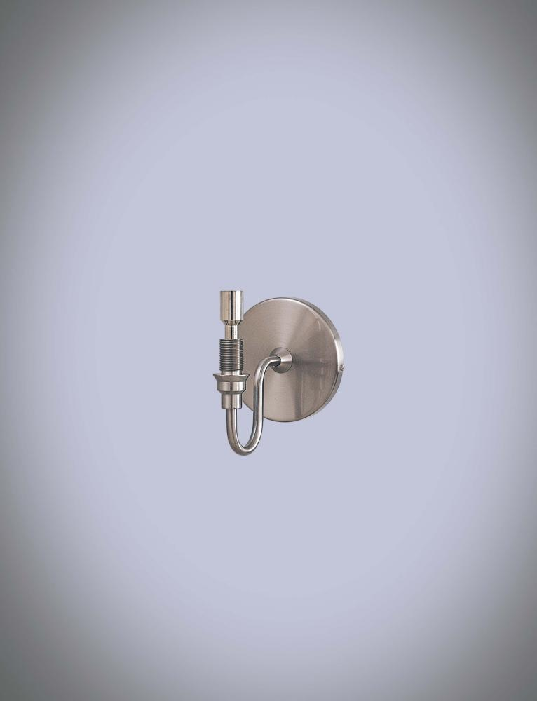 One Light Brushed Nickel Wall Light