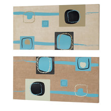 Dainolite DWA009 - 2pcs Set Square Prints on Suede