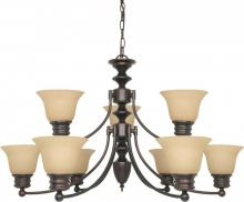 Nuvo 60/1275 - Empire 9 Light Chandelier