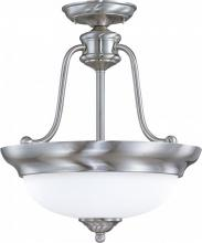 Nuvo 60-1807 - Glenwood - 3 Light Semi-Flush Dome w/ Satin White Glass