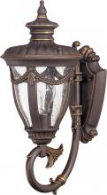 Nuvo 60-2045 - Philippe - 1 Light Small Wall Lantern Arm Up w/ Seeded Glass