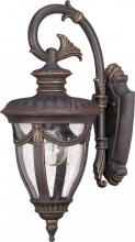 Nuvo 60-2046 - Philippe - 1 Light Small Wall Lantern Arm Down w/ Seeded Glass
