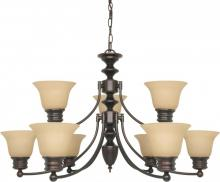 "Nuvo 60-3131 - Empire ES - 9 Light  32""  Chandelier  w/ Champagne Glass - (9) 13w GU24 Lamps Incl."