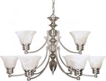 Nuvo 60/360 - Empire 9 Light Chandelier