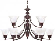 Nuvo 60/362 - Empire 9 Light Chandelier