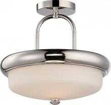 Nuvo 62-404 - Dylan 2 Light LED Semi Flush