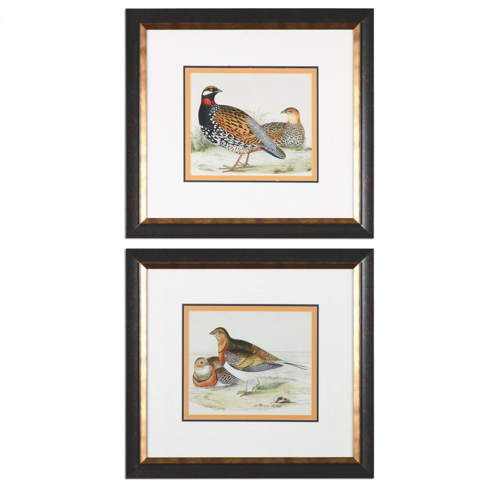 Uttermost Pair Of Quail Framed Prints, S/2