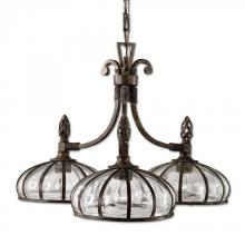 Uttermost 21046 - Uttermost Galeana 3 Light Iron Chandelier